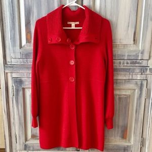 Belford Women's Red Wool Cardigan Sz M